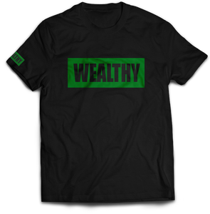 Wealthy Tee (Black/Green)