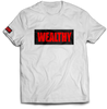 Wealthy Tee (White/Black/Red)