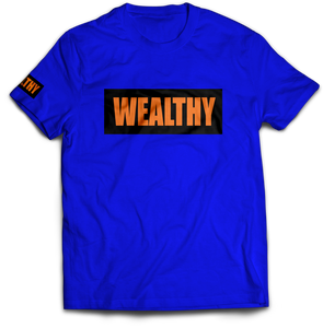 Wealthy Tee (Blue/Black/Orange)