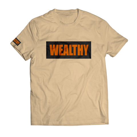 Shattered Backboard Wealthy Tee (Tan/Black/Orange)