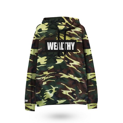 Wealthy Hoodie (Camo/Black/White)