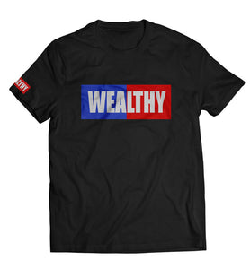 Wealthy Tee (Black/Royal/Red/White)