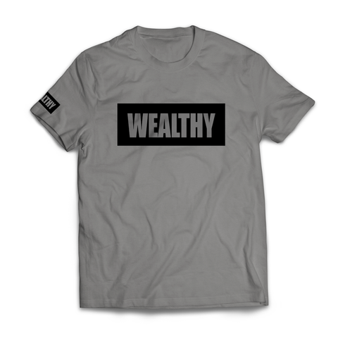Wealthy Tee (Grey/Black)