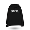 Wealthy Hoodie (Black/Black/White)