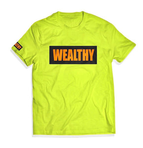 Wealthy Tee (Neon Yellow/Black/Neon Orange)