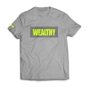Wealthy Tee (Grey/Grey/Neon Yellow)