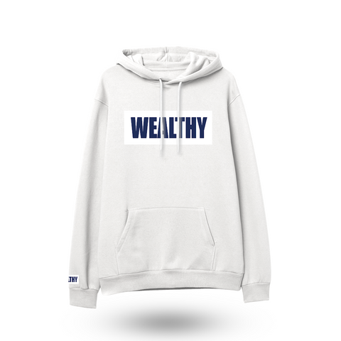 Wealthy Hoodie (White/White/Navy)