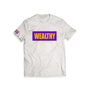 """Lakers"" Wealthy Tee (White/Purple/Yellow)"