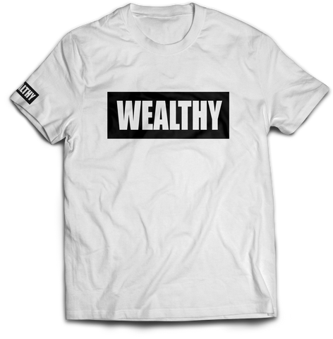 Wealthy Tee (White/Black)