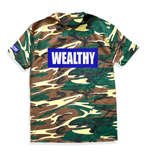 Wealthy Tee (Camo/Blue/White)