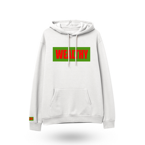 Wealthy Hoodie (White/Green/Red)