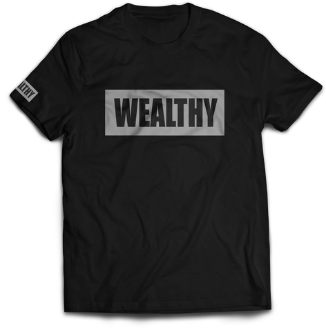 Wealthy Tee (Black/Grey)