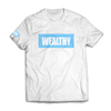 Wealthy Tee (White/Baby Blue)