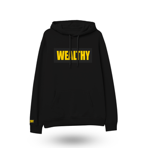 Wealthy Hoodie (Black/Black/Yellow)