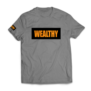 Wealthy Tee (Grey/Black/Orange)