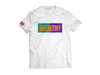 Wealthy Tee (White/Teal/Purple/Orange)