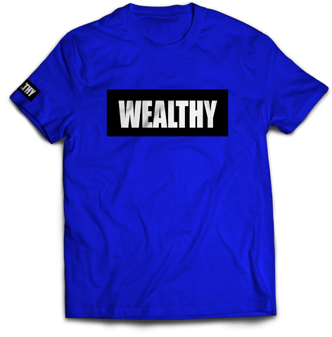 Wealthy Tee (Royal Blue/Black/White)