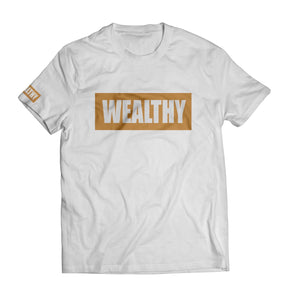 Wealthy Tee (White/Wheat)