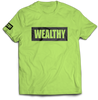Wealthy Tee (Neon Yellow/Black)