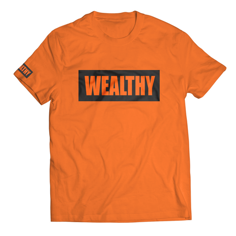 Wealthy Tee (Orange/Black)