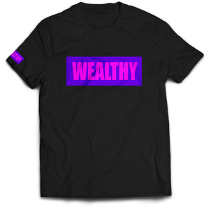Wealthy Tee (Black/Purple/Hot Pink)