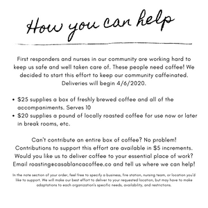 Buy Coffee for First Responders
