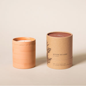 Western Red Cedar 8 oz Terra Soy Candle - P.F. Candle Co.