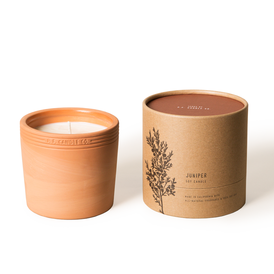Juniper 17.5 oz Terra Soy Candle - P.F. Candle Co.