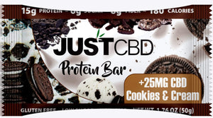 JustCBD Protein Bars 25mg Cookies & Cream
