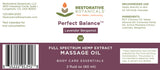 Restorative Botanicals Perfect Balance Massage Oil