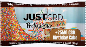 JustCBD Protein Bars 25mg Birthday Cake