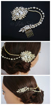 Ambria Pearl and Crystal Vintage Headpiece