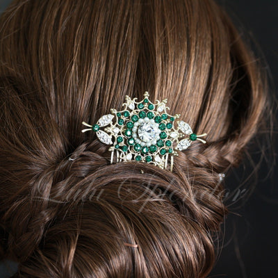 Kirrie Bridal Hair Comb with your choice of Colour Accent