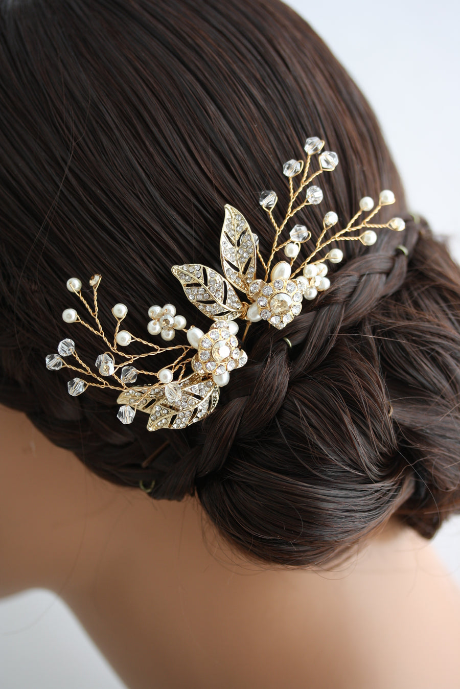 STORY Set of Gold Wedding Hair Pins