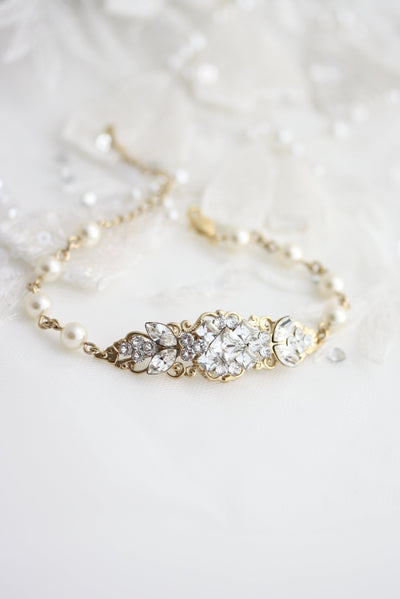 Anna Art Deco Wedding Bracelet - Lulu Splendor
