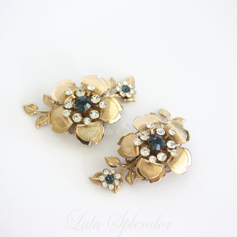 Lisse Floral Wedding Shoe Clips