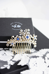 Sabine Blue Crystal Wedding Comb - Lulu Splendor