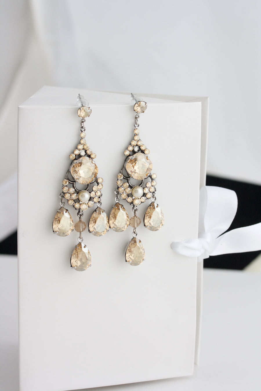 MAJESTIC LEONA BRIDAL EARRINGS - Lulu Splendor