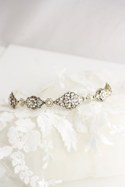 Cara Antique Bridal Headband - Lulu Splendor