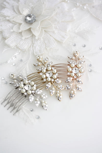 MACY BRIDAL HAIR COMB - Lulu Splendor