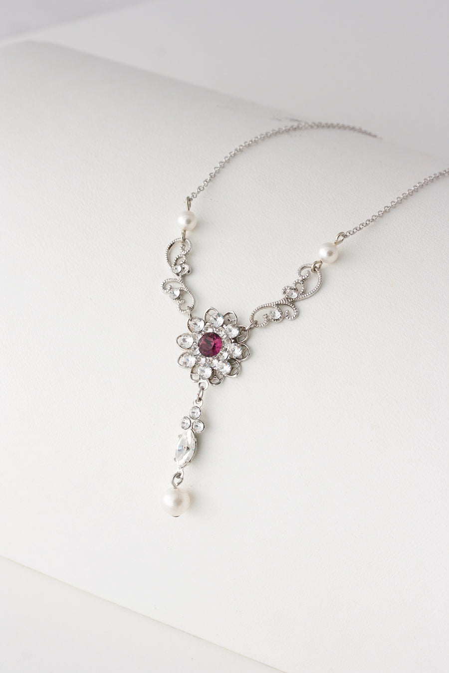 Cara necklace with Purple - Lulu Splendor