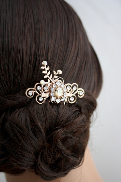 Mercy Small Wedding Hair Comb - Lulu Splendor