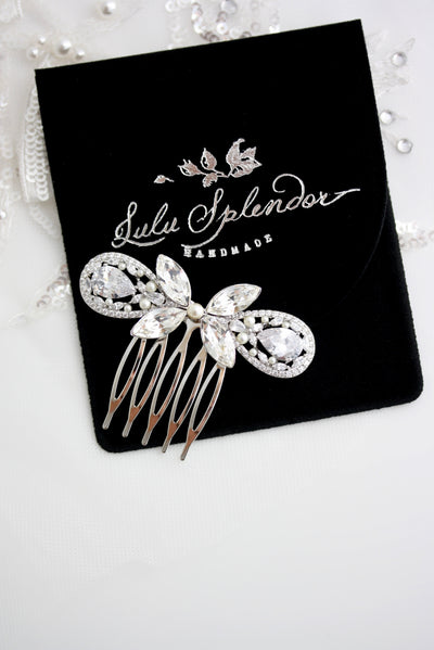 Sweet Vivienne Crystal Hair Comb