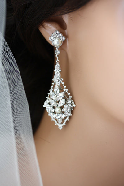 Ursula Showpiece Wedding Earrings