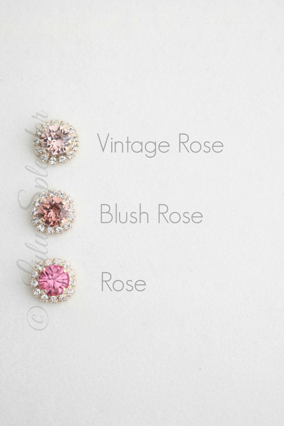 Crystal Halo Stud Earrings - Lulu Splendor