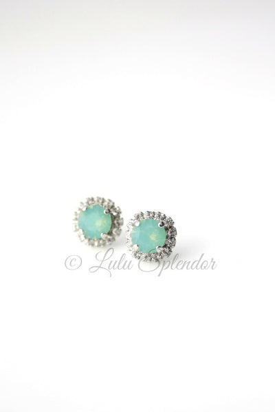 Stud Pacific Opal Wedding Earrings
