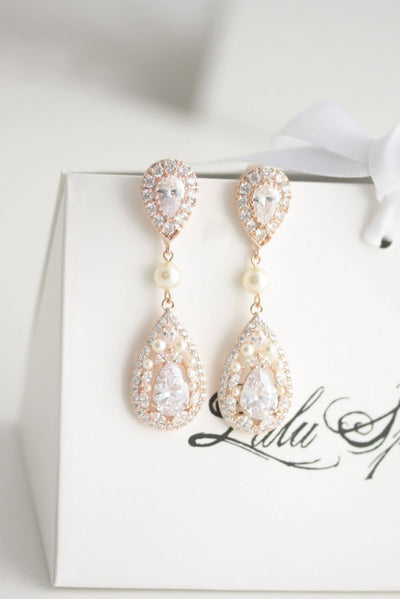 Vivi Luxe Earrings Rose Gold