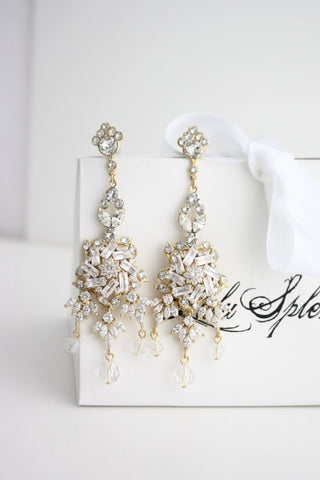 Gold Ainslie Bridal Earrings