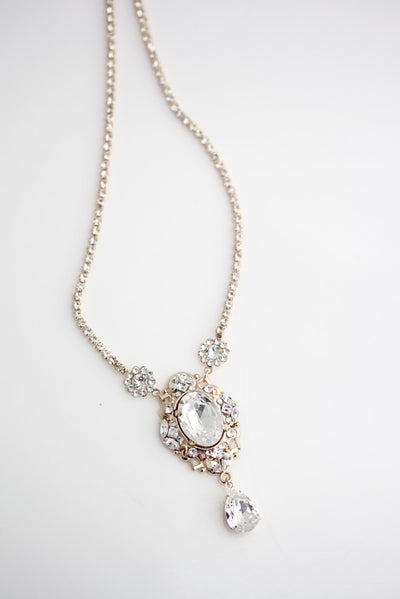 Ryan Crystal Bridal Necklace - Lulu Splendor