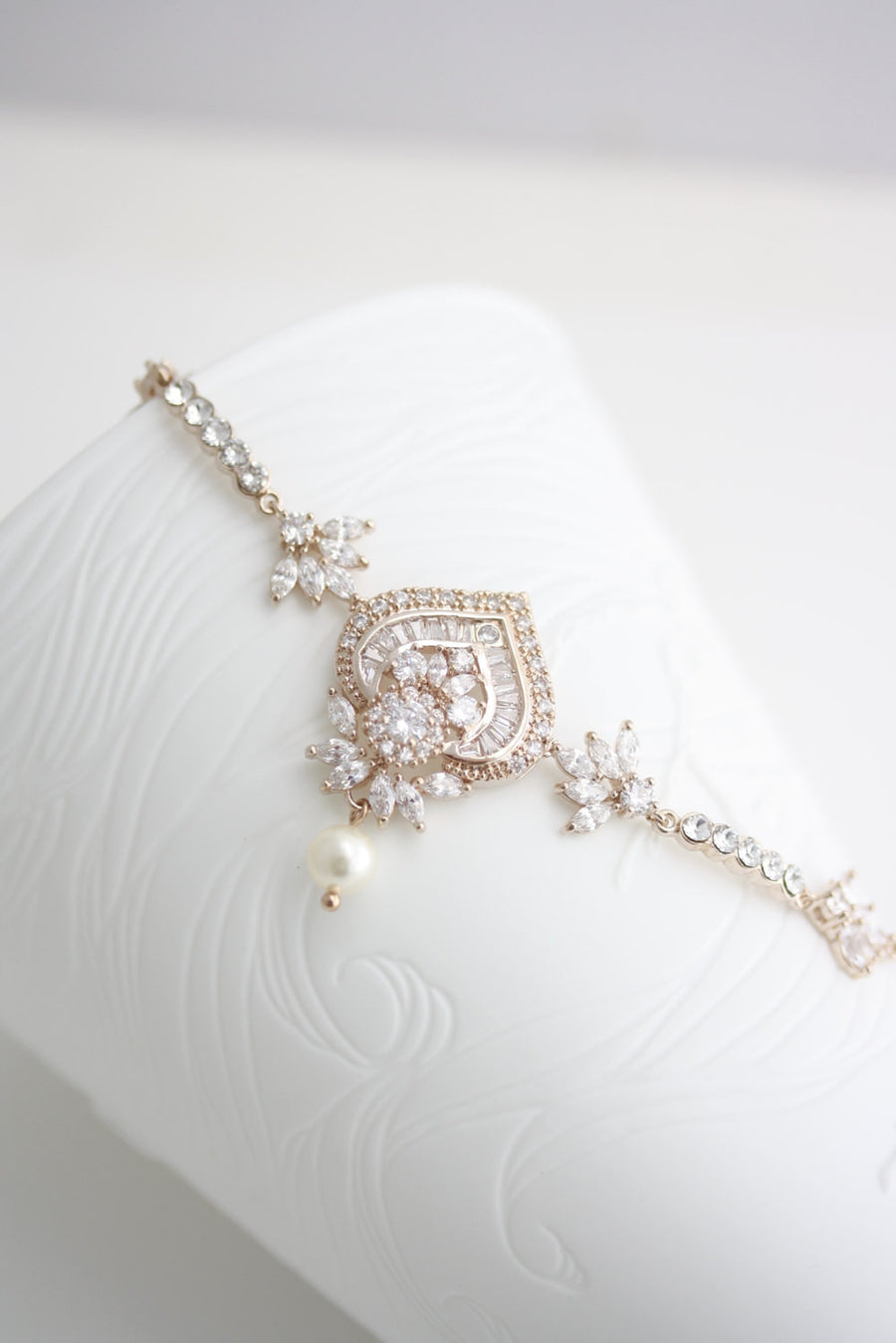 Evie Crystal Wedding Bracelet - Lulu Splendor